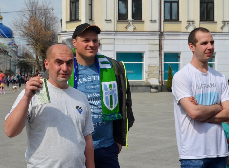 Житомиряни зібрались на Михайлівській підтримати ФК «Полісся»